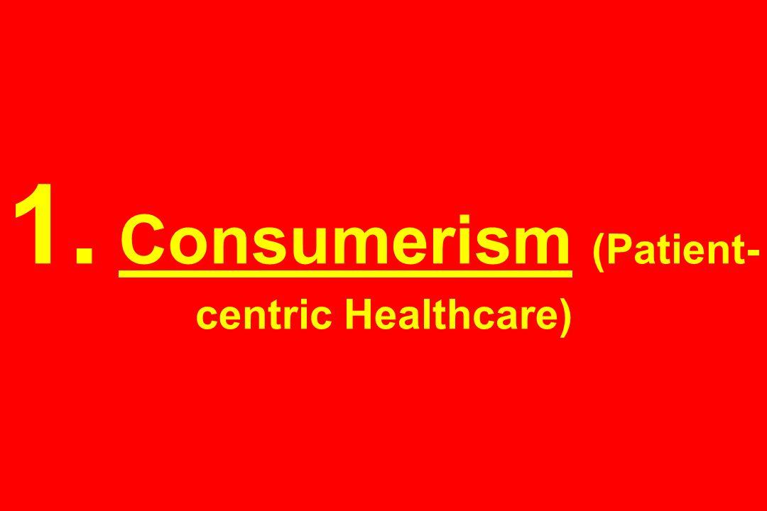1. Consumerism (Patient- centric Healthcare)