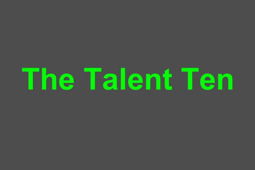 The Talent Ten