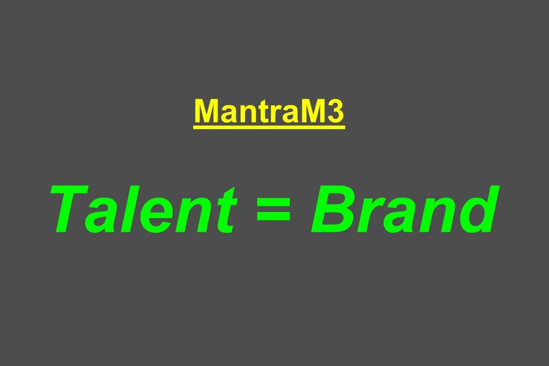 MantraM3 Talent = Brand