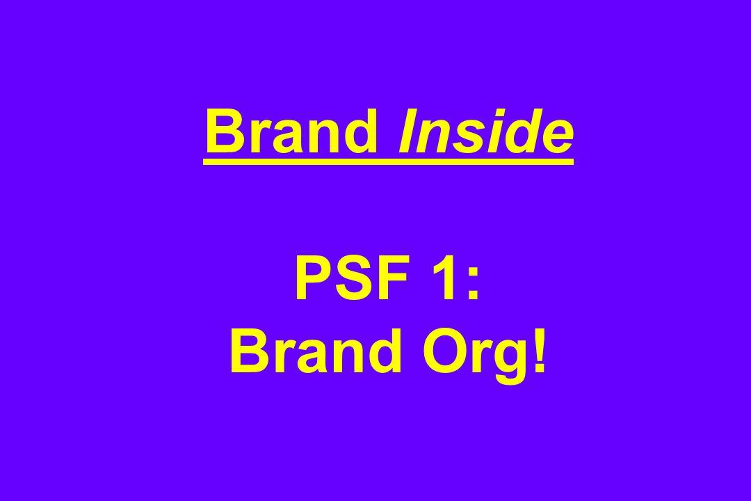 Brand Inside PSF 1: Brand Org!