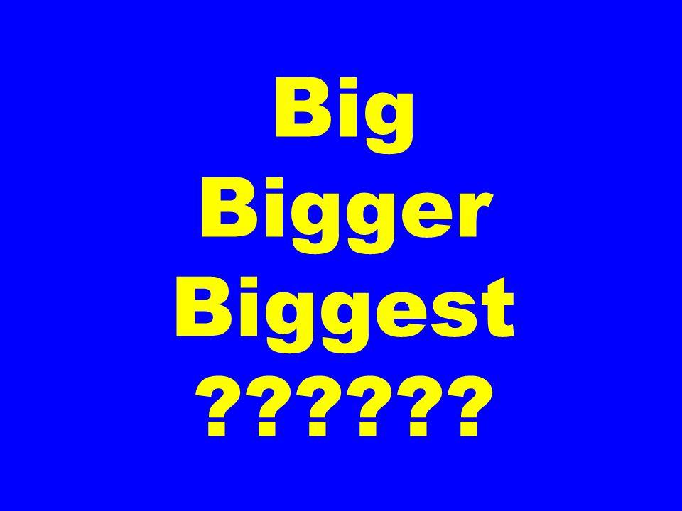 Big Bigger Biggest ??????