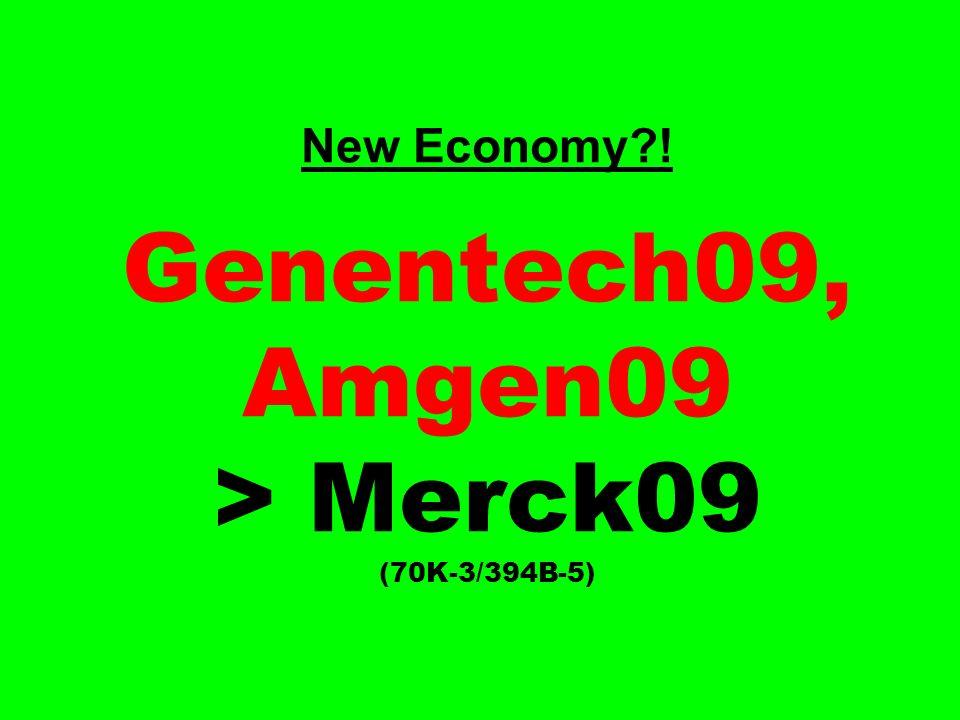 New Economy?! Genentech09, Amgen09 > Merck09 (70K-3/394B-5)