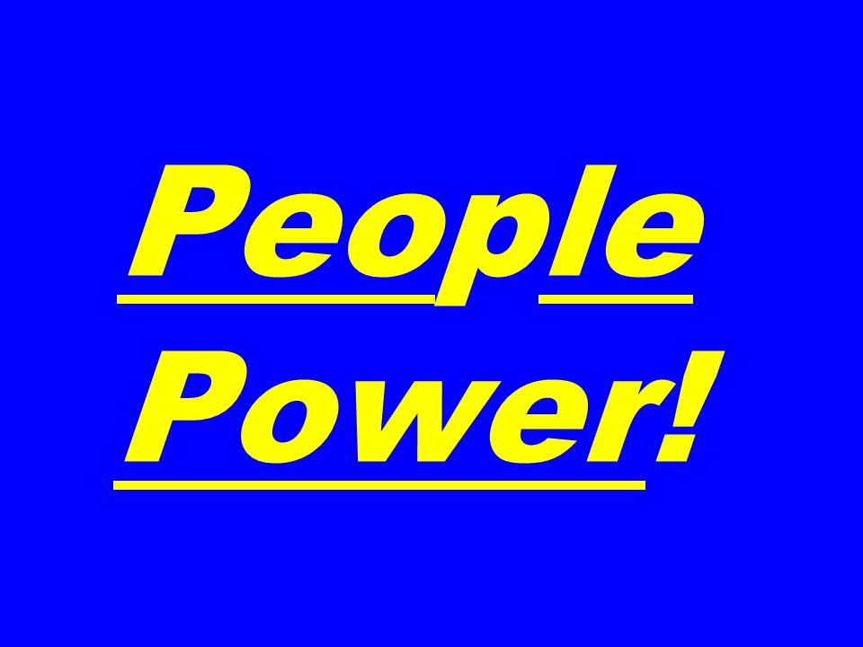 People Power!