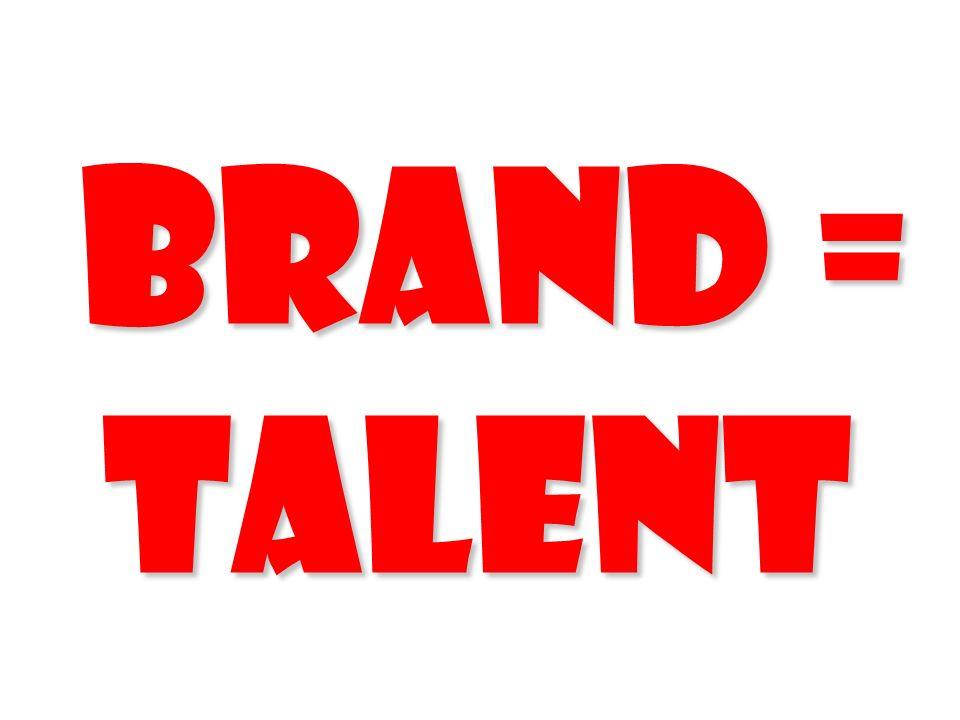 Brand = Talent