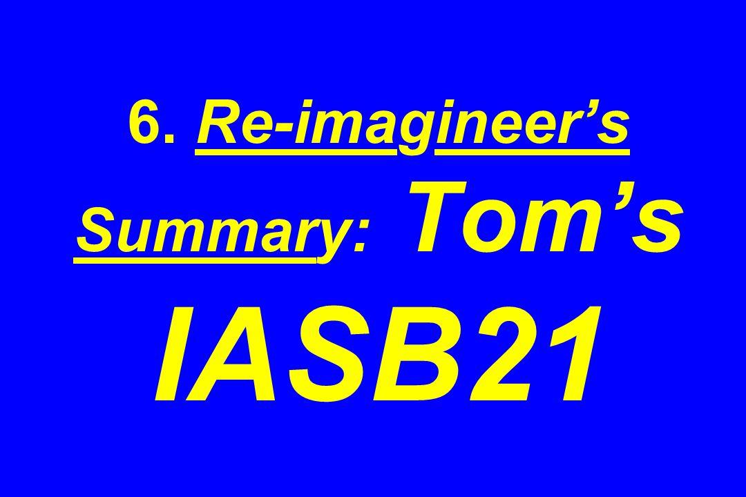 6. Re-imagineers Summary: Toms IASB21