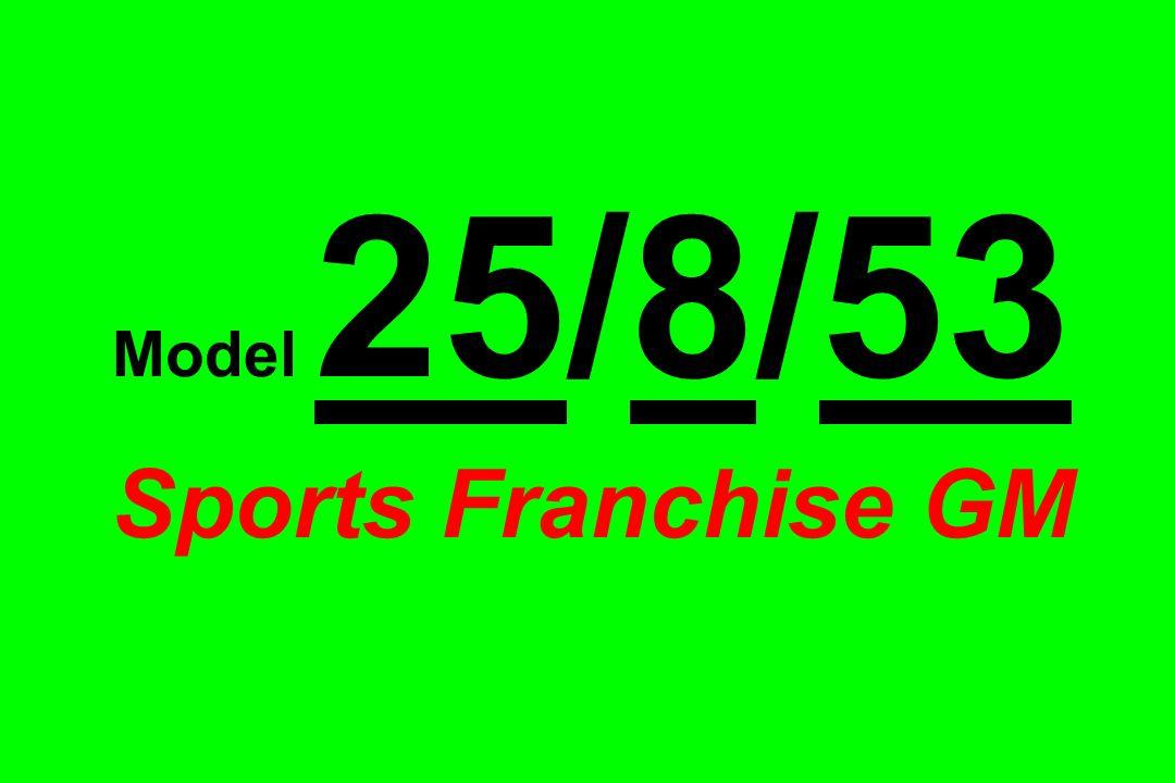 Model 25/8/53 Sports Franchise GM