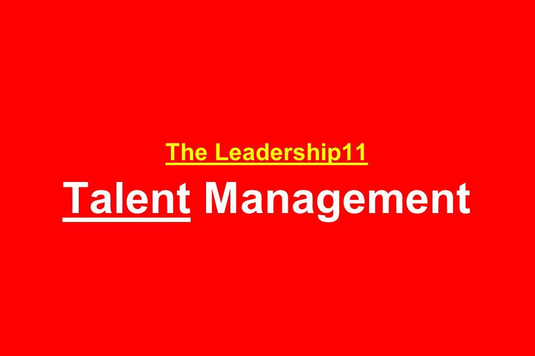 The Leadership11 Metabolic Management