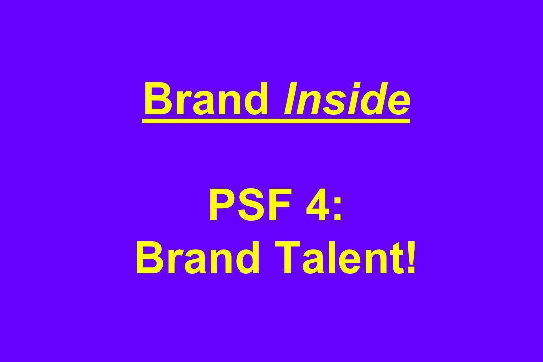 Brand Inside PSF 4: Brand Talent!