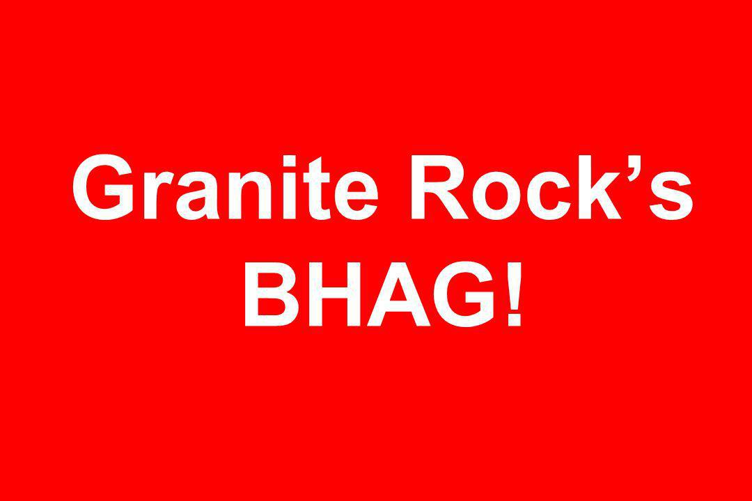 Granite Rocks BHAG!