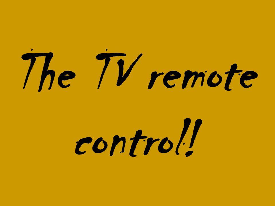 The TV remote control!