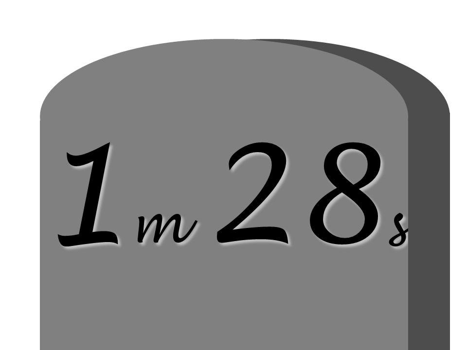 1 m 28 s