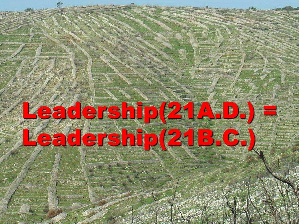Leadership(21A.D.) = Leadership(21B.C.)