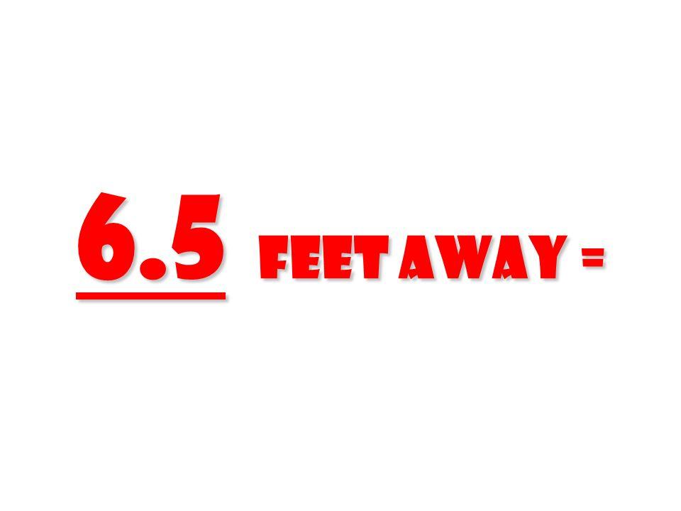 6.5 feet Away = 6.5 feet Away =
