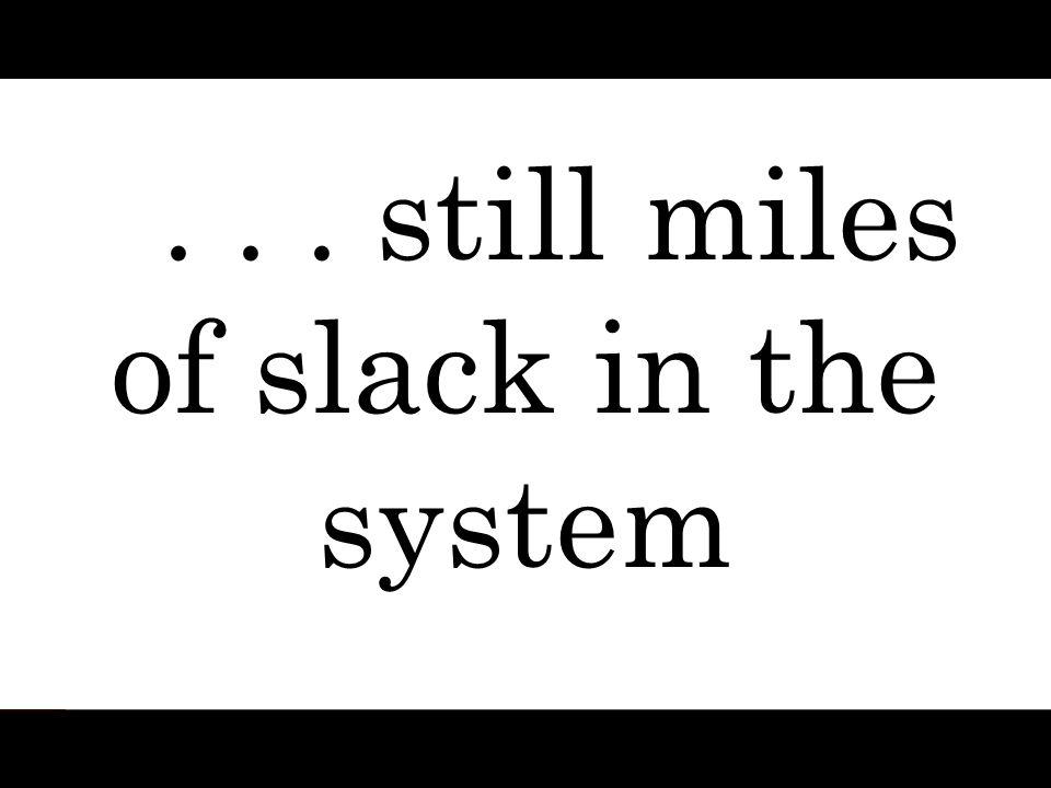 ... still miles of slack in the system