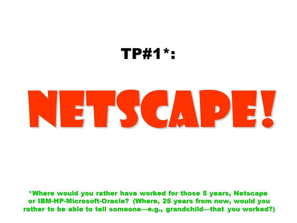 TP#1*: Netscape.