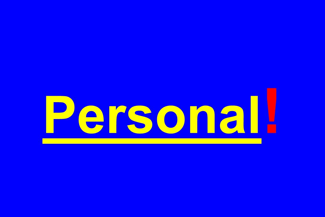 Personal !