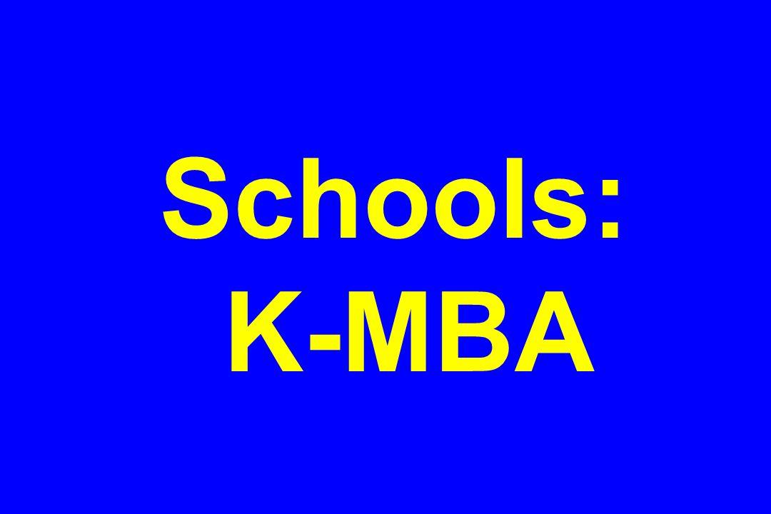 Schools: K-MBA
