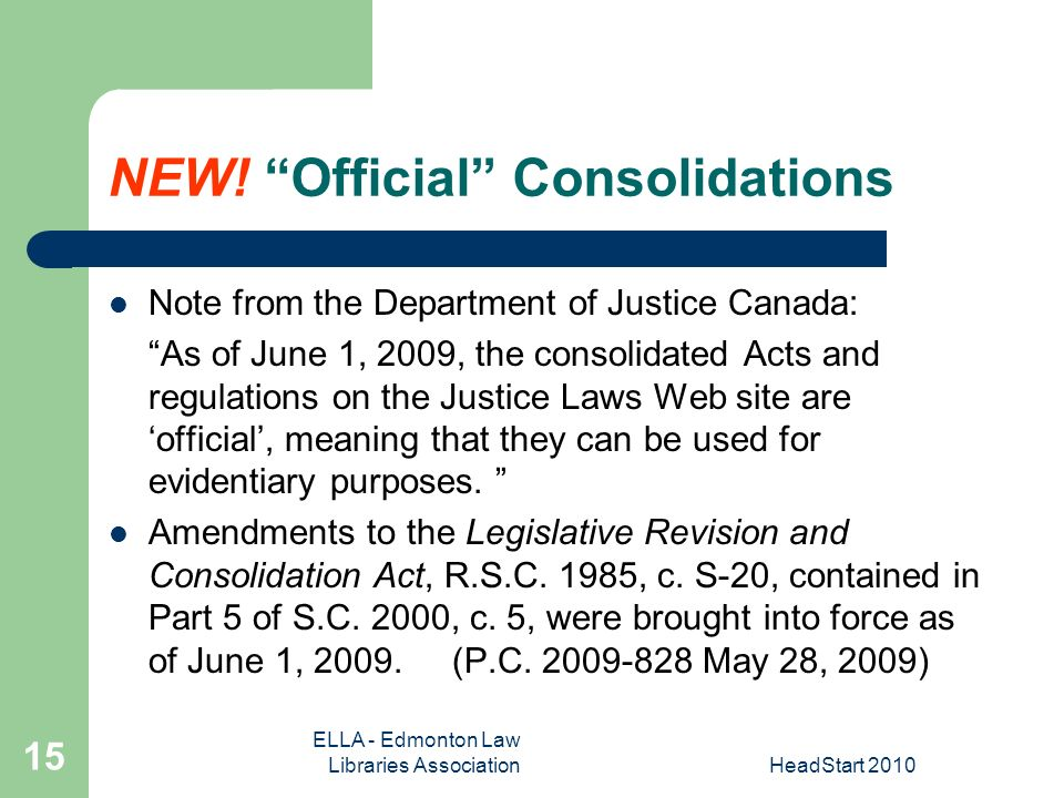 ELLA - Edmonton Law Libraries AssociationHeadStart NEW.