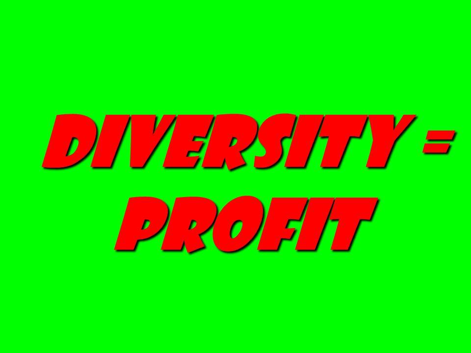 Diversity = profit Diversity = profit