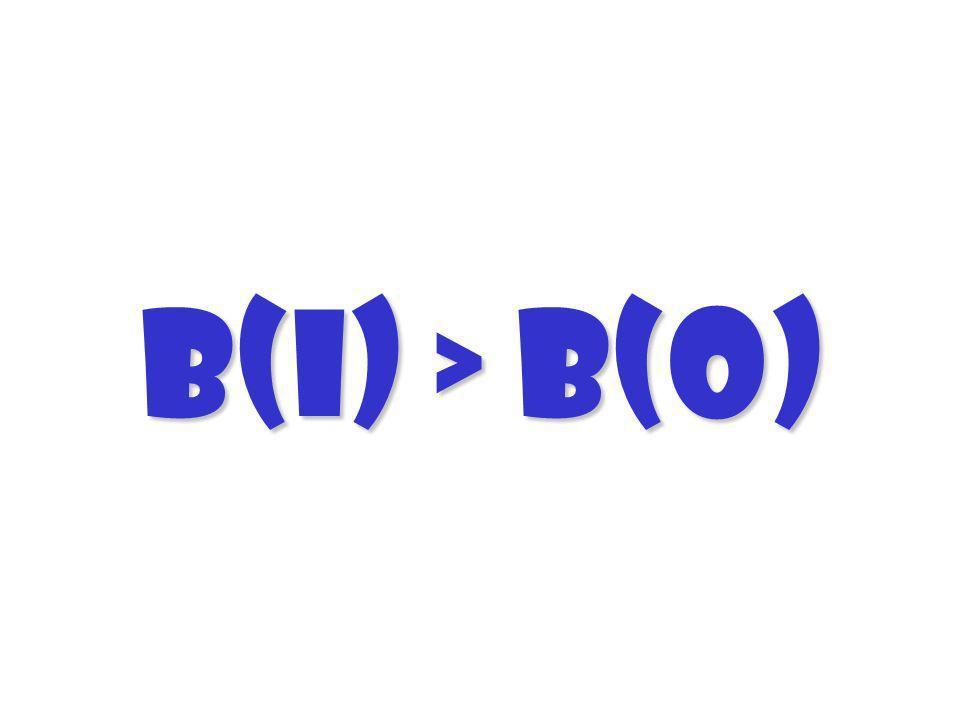 B(I) > B(O)