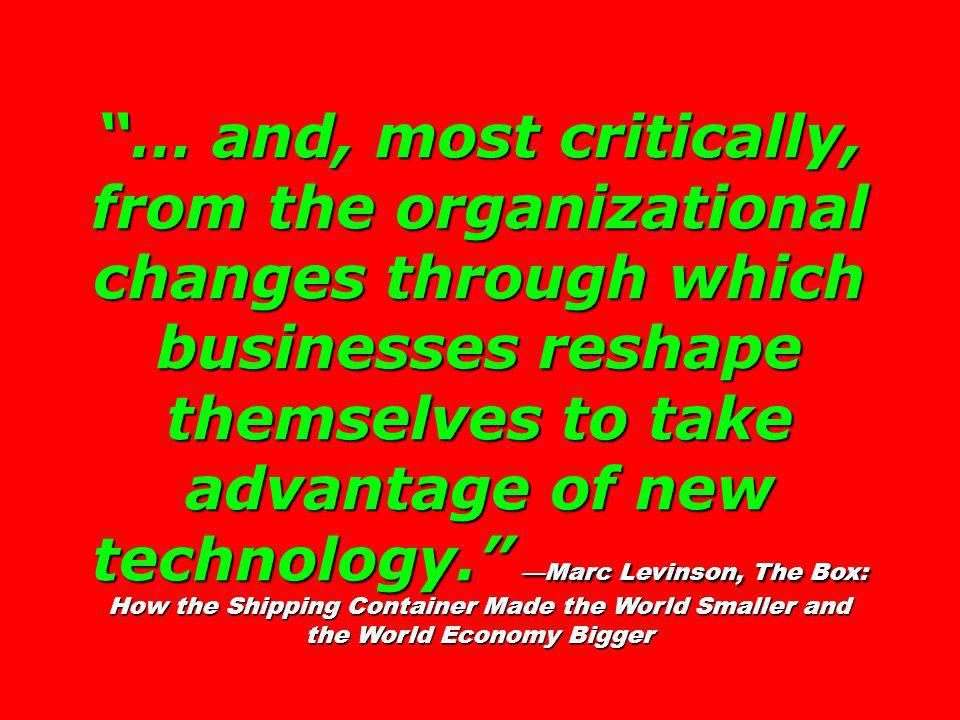 … and, most critically, from the organizational changes through which businesses reshape themselves to take advantage of new technology.
