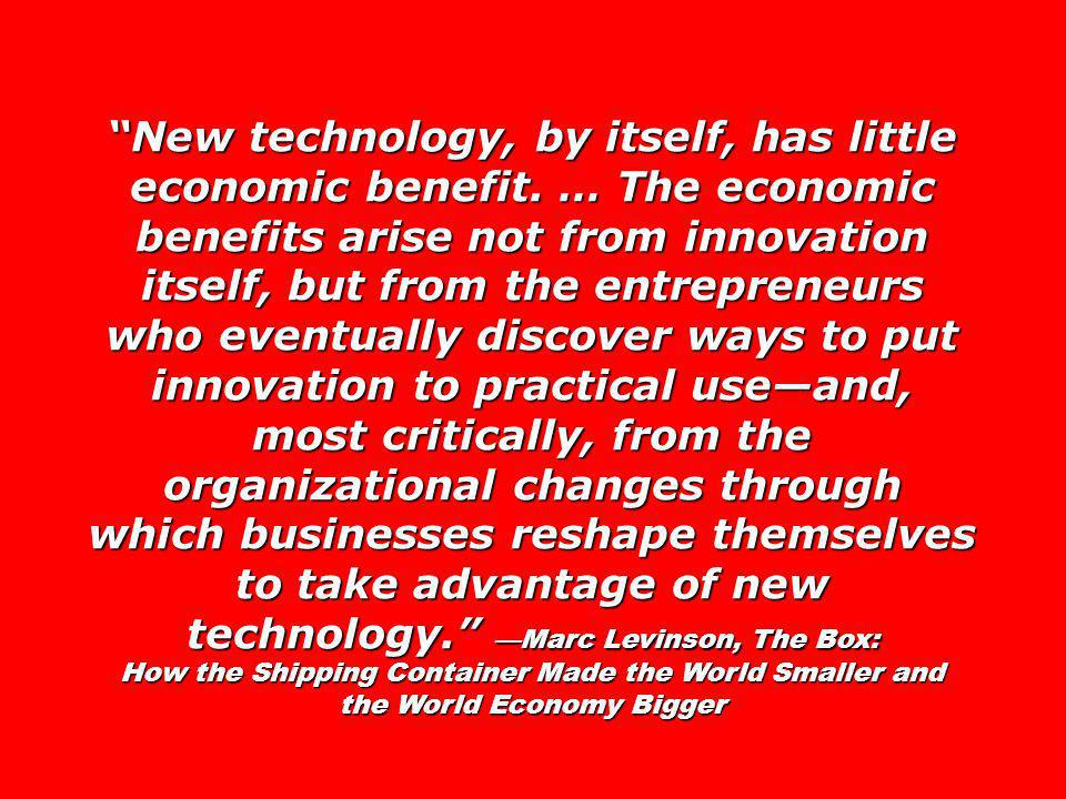 New technology, by itself, has little economic benefit.