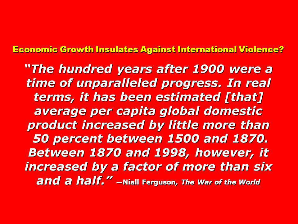 Economic Growth Insulates Against International Violence.