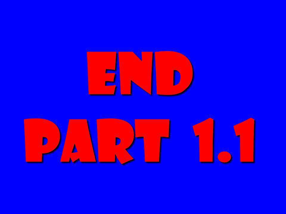 END Part 1.1