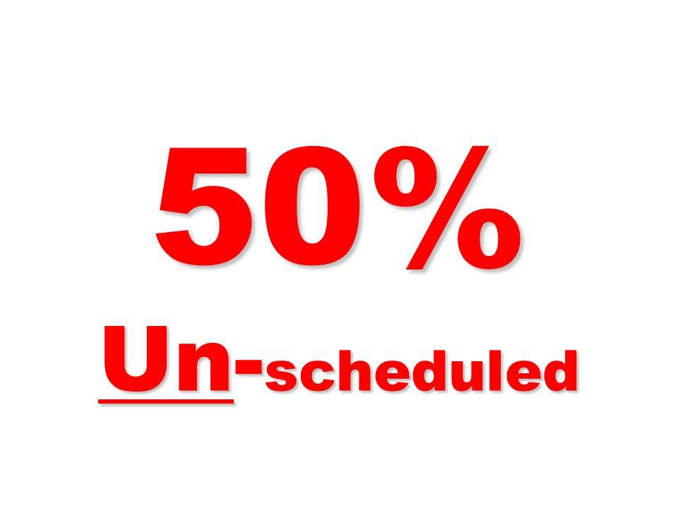 50% Un- scheduled