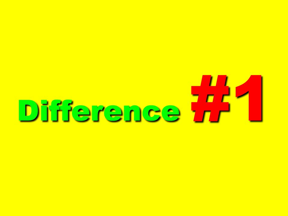 Difference #1