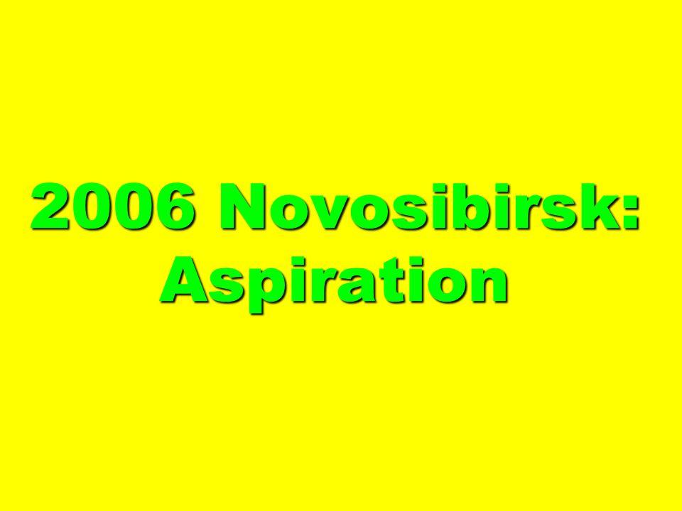 2006 Novosibirsk: Aspiration