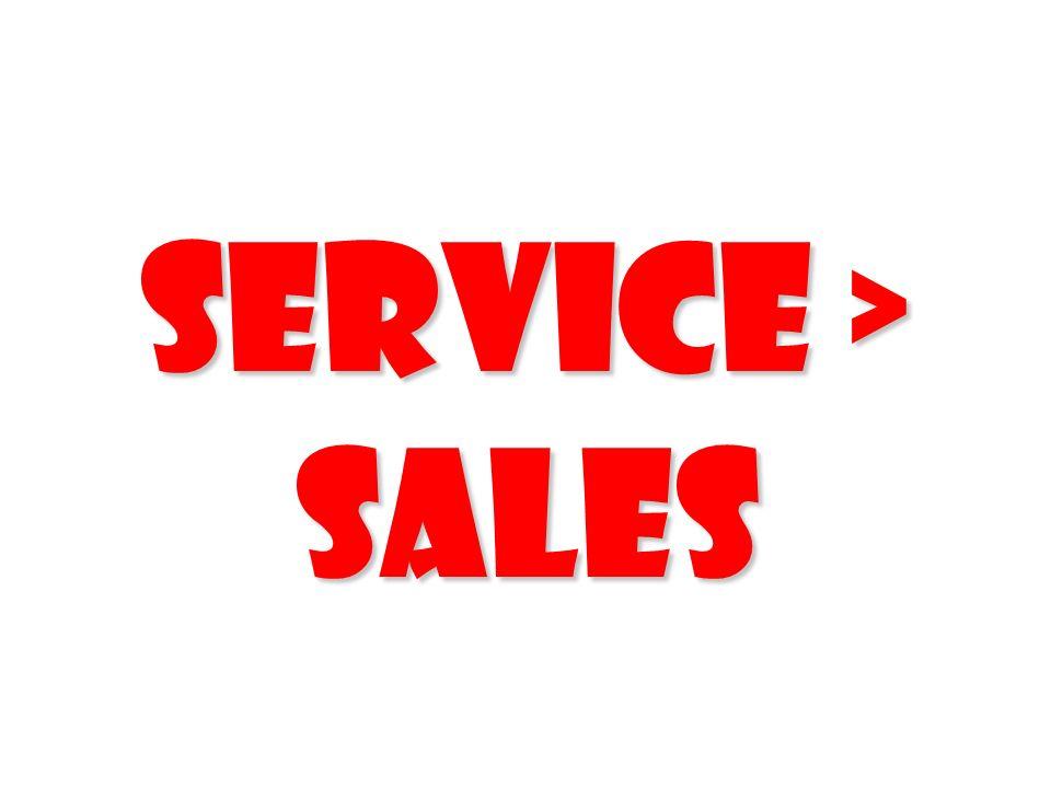 Service > Sales