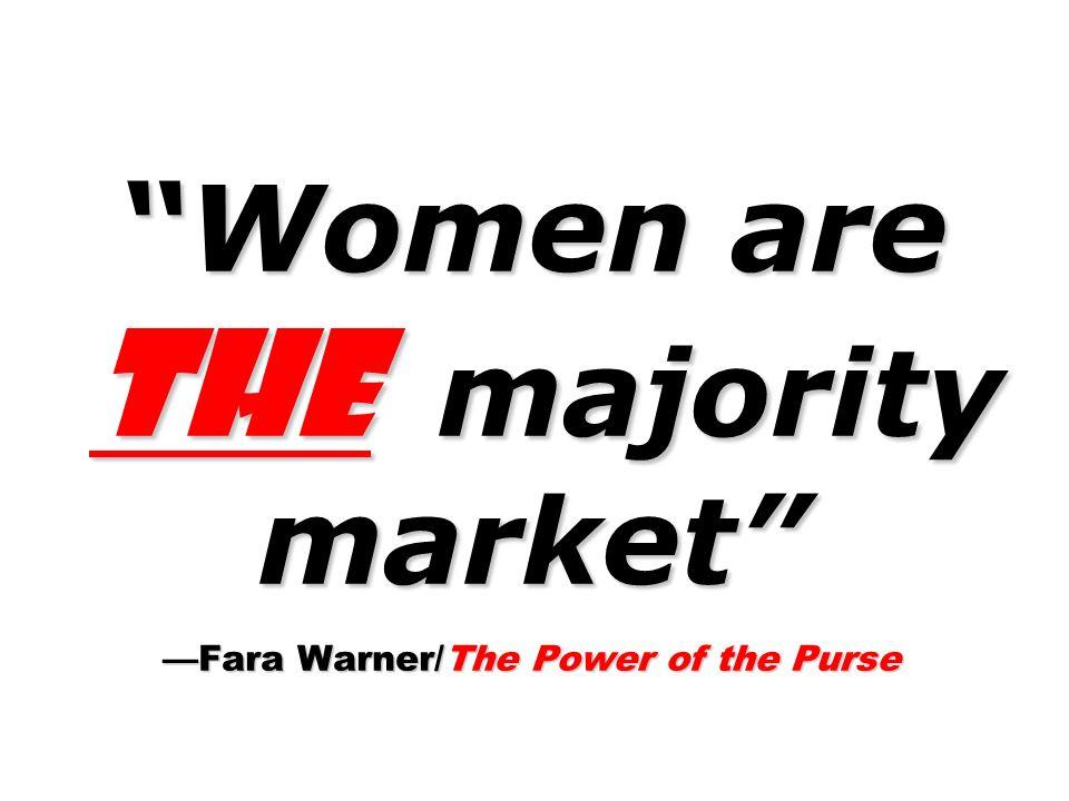 Women are the majority market Fara Warner/The Power of the Purse
