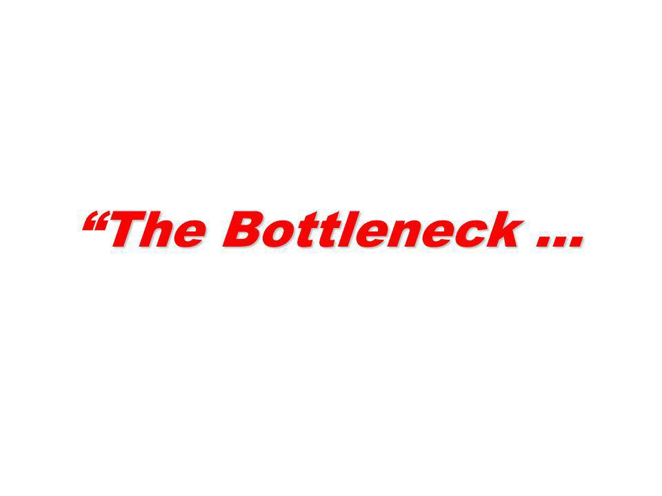 The Bottleneck …The Bottleneck …