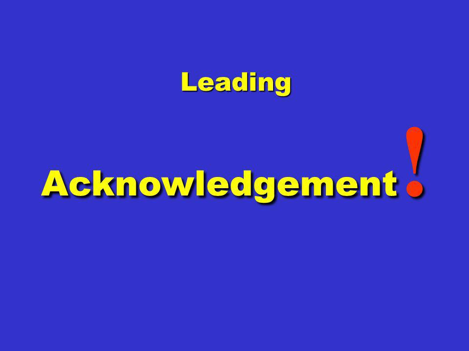 Leading Acknowledgement !
