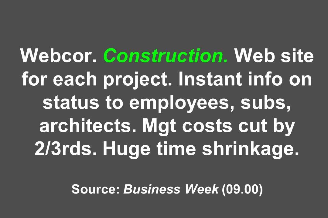 Webcor.Construction. Web site for each project.