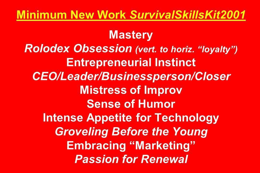 Minimum New Work SurvivalSkillsKit2001 Mastery Rolodex Obsession (vert.