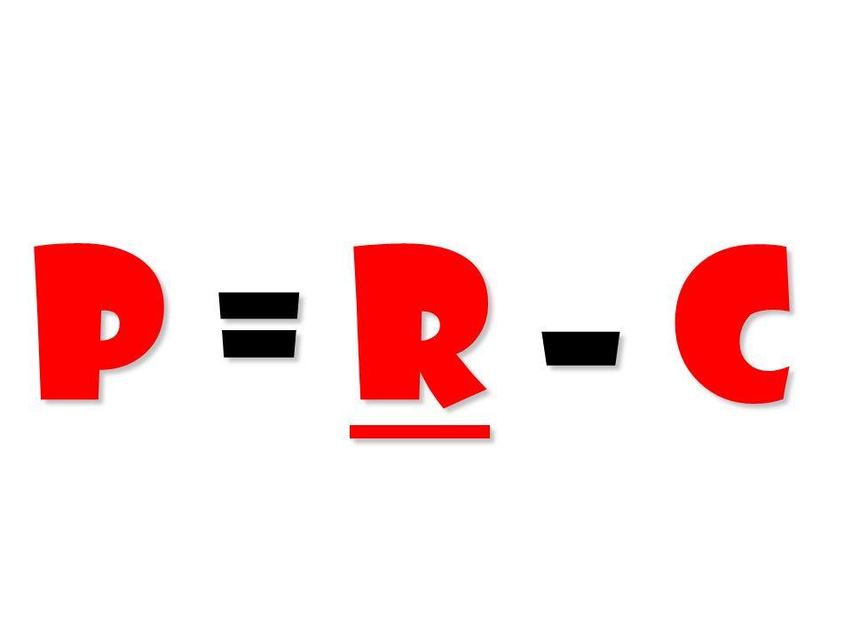 P = R – C