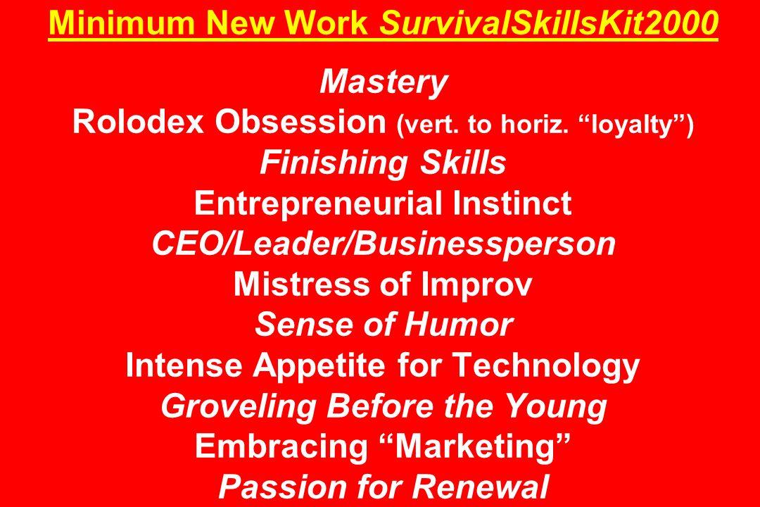 Minimum New Work SurvivalSkillsKit2000 Mastery Rolodex Obsession (vert.