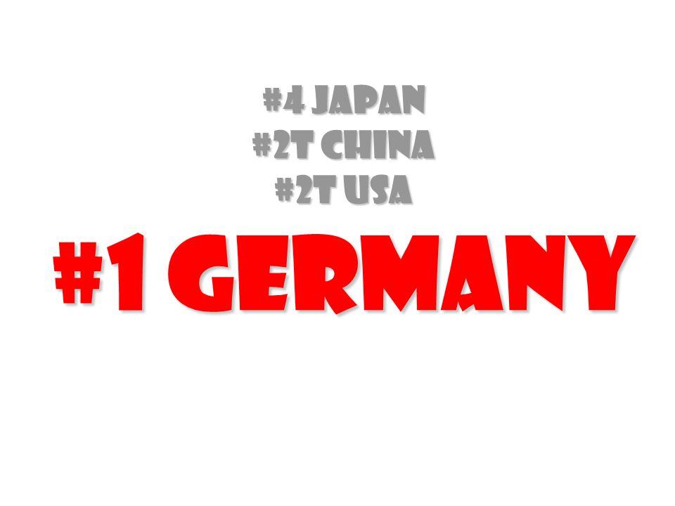 #4 Japan #2T china #2t USA #1 Germany