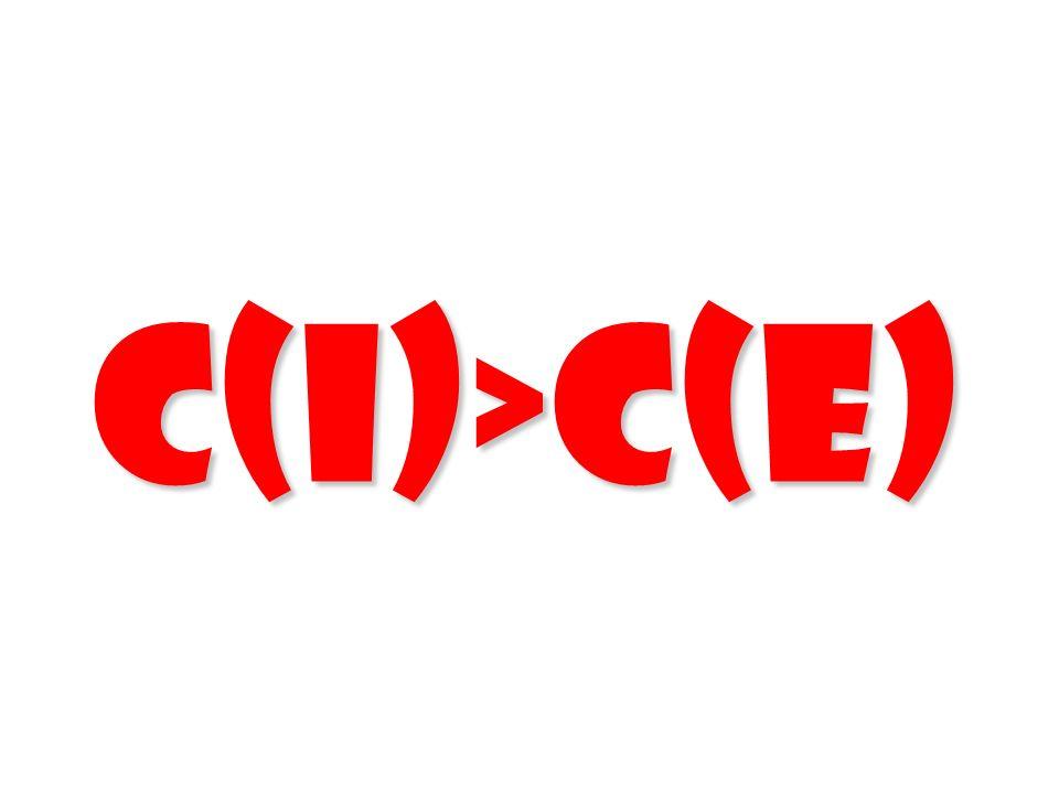 C(I)>C(E)