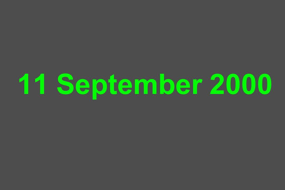11 September 2000