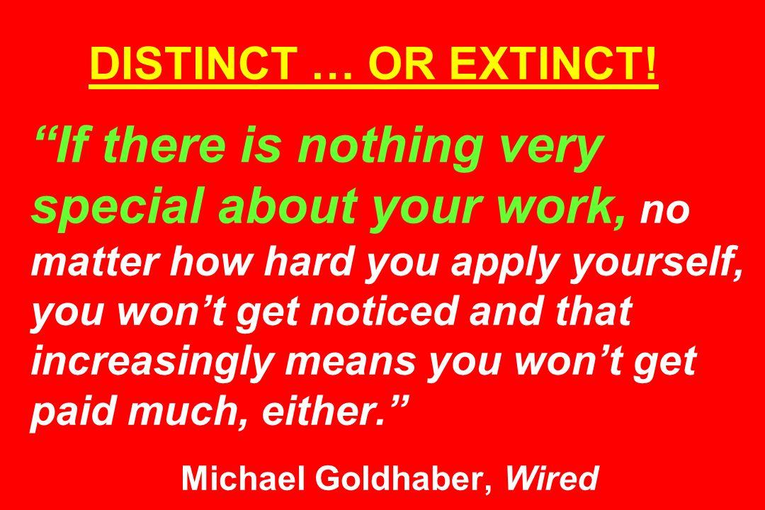 DISTINCT … OR EXTINCT.
