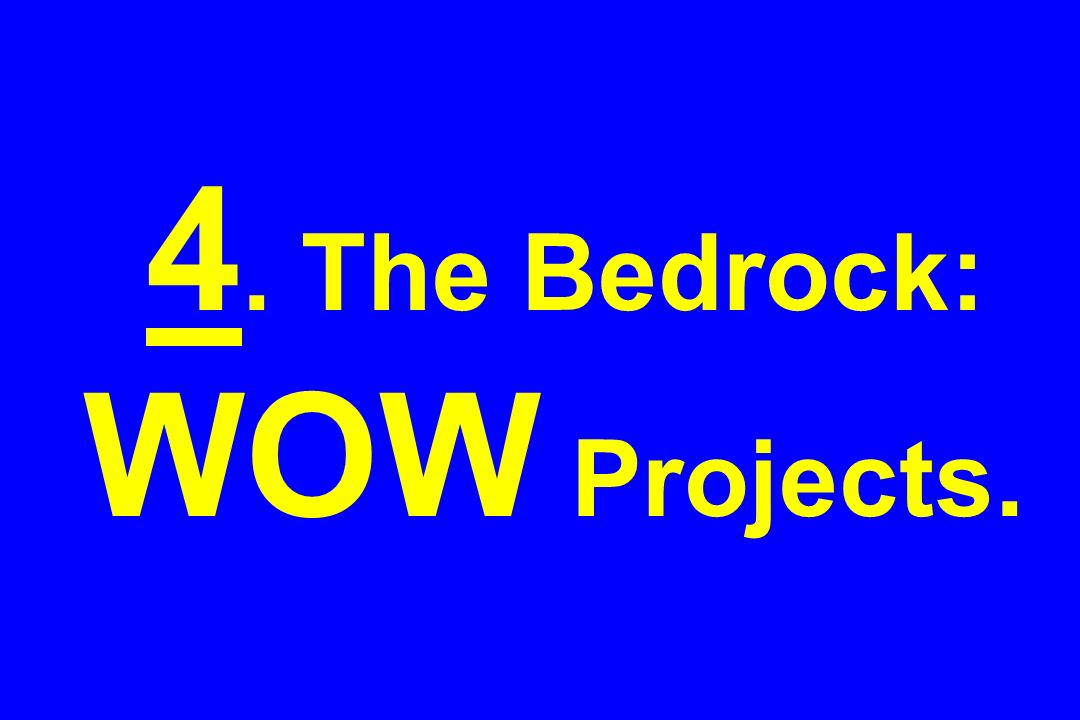 4. The Bedrock: WOW Projects.