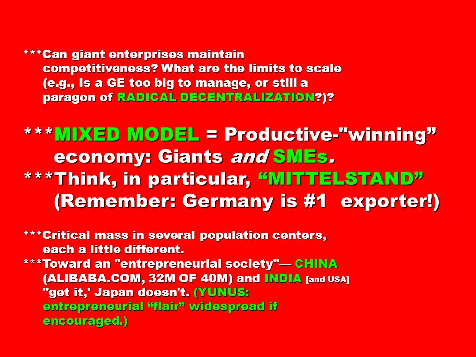 ***Can giant enterprises maintain competitiveness.