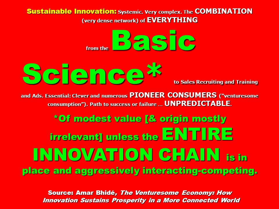 Sustainable Innovation: Systemic.Very complex.