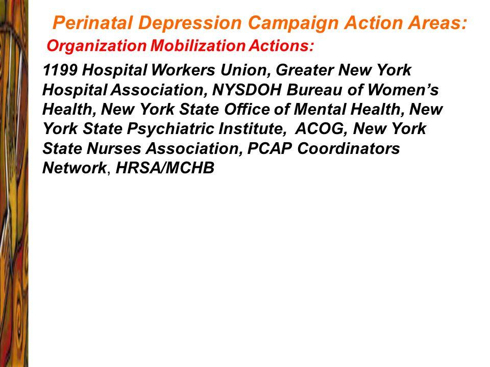 1199 Hospital Workers Union, Greater New York Hospital Association, NYSDOH Bureau of Womens Health, New York State Office of Mental Health, New York S