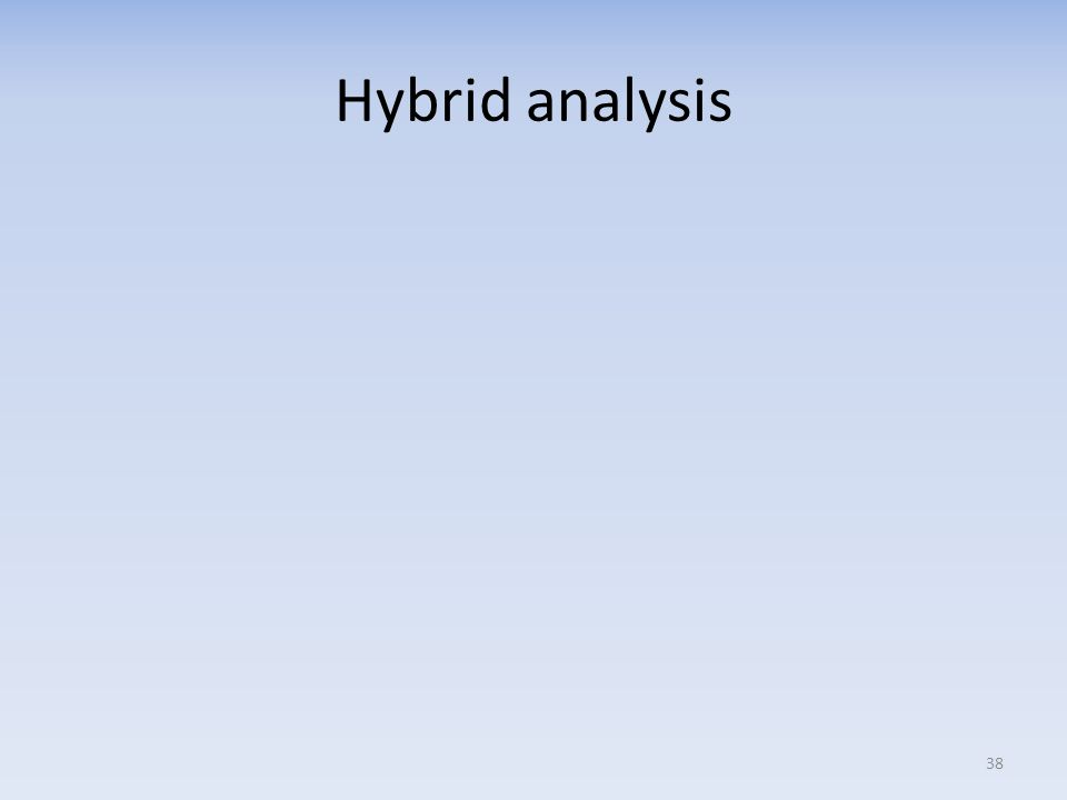 Hybrid analysis 38