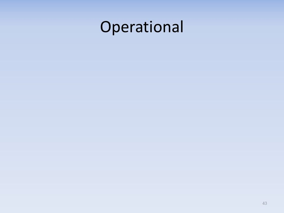 Operational 43