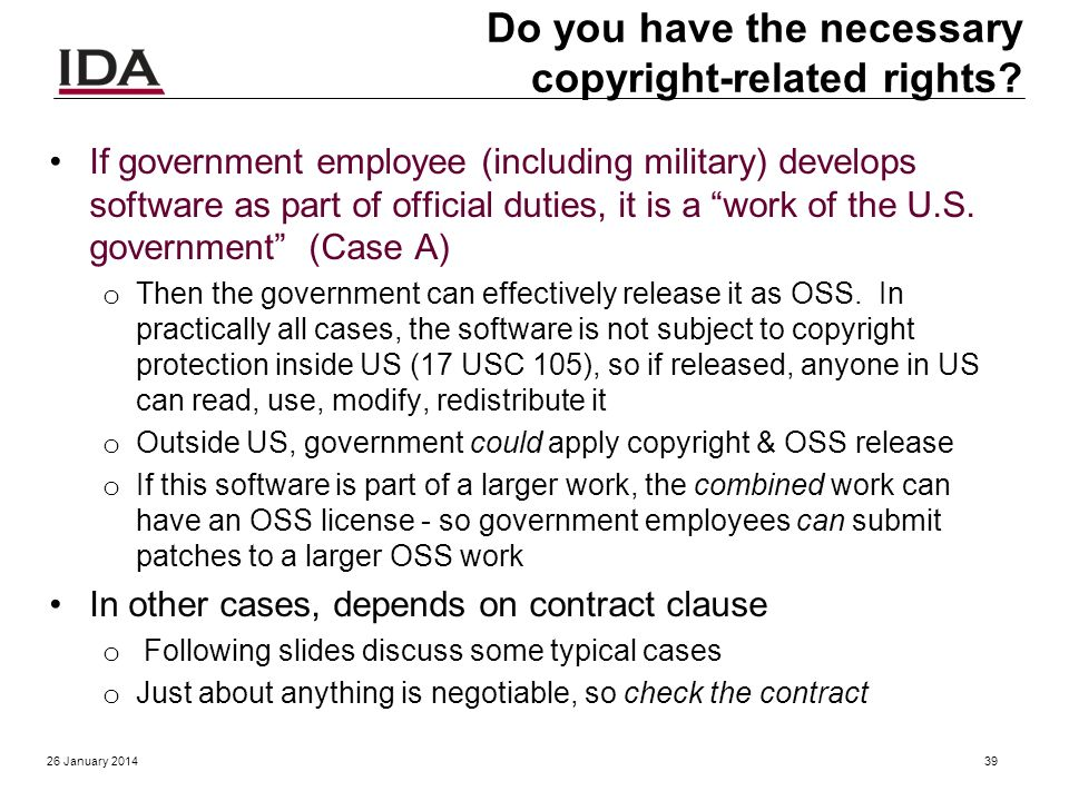 Answer me these questions five The US federal government or contractors may release software developed using government funds to the public, as open s